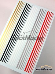 Virages: Decals - Stripes in gold, black, white, silver and red