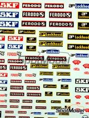 Virages: Logotipos - SKF, Ferodo, AP Lockheed, Trico logos - calcas de agua