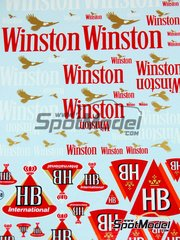 Virages: Logotypes 1/24 scale - Winston, HB - water slide decals