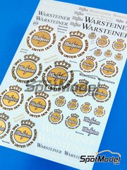 Virages: Logotypes 1/24 scale - Warsteiner - water slide decals