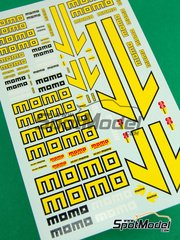 Virages: Logotypes 1/24 scale - Momo - water slide decals