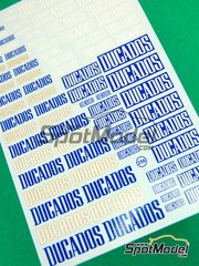 Virages: Logotypes - Ducados - water slide decals