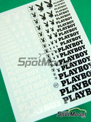 Virages: Logotypes 1/24 scale - Playboy - water slide decals