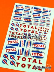 Virages: Logotypes 1/24 scale - Total  - water slide decals