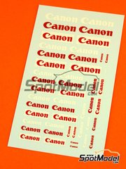 Virages: Logotypes 1/24 scale - Canon - water slide decals
