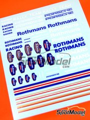 Virages: Logotypes 1/24 scale - Rothmans Porsche - water slide decals image