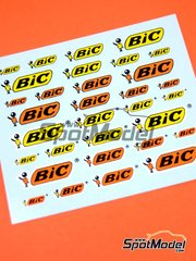 Virages: Logotypes 1/24 scale - BIC - water slide decals image