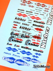 Virages: Logotypes - Kleber Colombes - water slide decals
