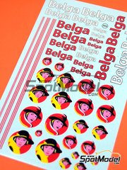 Virages: Logotypes 1/24 scale - Belga - water slide decals