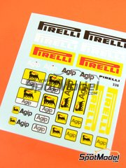 Virages: Logotypes 1/20 scale - Pirelli Agip - water slide decals