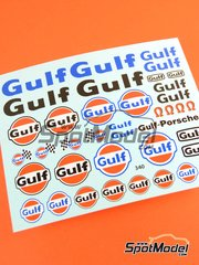Virages: Logotypes 1/24 scale - Gulf - water slide decals