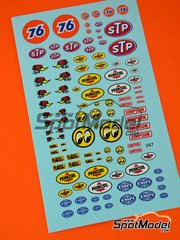 Virages: Logotypes 1/24 scale - STP, Empi, Pennzoil, Simpson - water slide decals