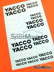 Virages: Logotypes 1/24 scale - Yacco - water slide decals