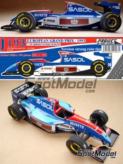Wolf Models: Model car kit 1/20 scale - Jordan J193 Sasol #14 - European Grand Prix 1993 - resin multimaterial kit
