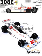 Wolf Models: Model car kit 1/20 scale - Hesketh 308E Heyco #25 - Harald Ertl (AT) - World Championship 1977 - resin multimaterial kit