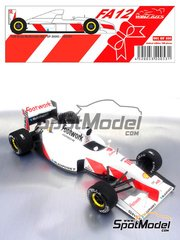 Wolf Models: Model car kit 1/20 scale - Arrows Footwork Porsche 3512 FA12 - Michele Alboreto (IT) - World Championship 1991 - resin multimaterial kit
