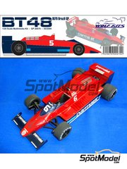 Wolf Models: Model car kit 1/20 scale - Brabham Alfa Romeo BT48 Parmalat #5, 6 - Brazilian Grand Prix 1979 - resin multimaterial kit