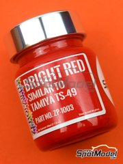 Zero Paints: Paint - Bright Red similar to TS-49 - 1 x 60ml - for Airbrush
