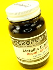 Zero Paints: Paint - Ducati Metallic Black  - Code: 291.500 - 1 x 60ml - for Airbrush