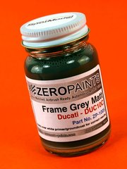 Zero Paints: Paint - Ducati Frame Grey Matt - Code: DUC10C - 60ml - for Airbrush image