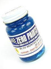 Zero Paints: Pintura - Azul Montecarlo Ferrari - Ferrari Bleu Montecarlo - Non metallic- Code: 20-A-548 - 1 x 60ml - para Aerógrafo