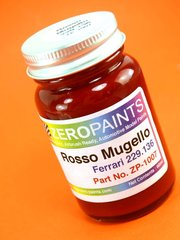 Zero Paints: Paint - Ferrari Rosso Mugello - Code: 229.136 - 60ml 2007 - for airbrush