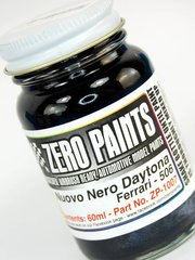 Zero Paints: Paint - Ferrari Nuovo Nero Daytona Metallic Black - Code: 506 - 1 x 60ml - for Airbrush