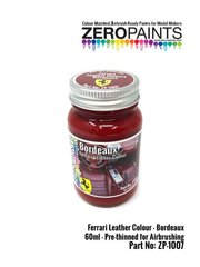 Zero Paints: Pintura - Cuero rojo Ferrari Bordeaux - 1 x 60ml