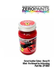 Zero Paints: Paint - Ferrari leather colour Rosso FX - 1 x 60ml