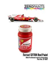 Zero Paints: Paint - Ferrari SF70H red - 1 x 60ml - for Model Factory Hiro references MFH-K607, K-607, MFH-K608 and K-608, or Tamiya references TAM20068 and 20068