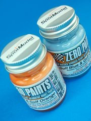Zero Paints: Set de pinturas - Tonos Gulf - Azul + Naranja - Gulf Colours - Blue + Orange - 2x30ml - para Aerógrafo