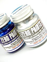 Zero Paints: Paints set - Honda RC211V Telefonica Movistar - Blue + Silver - 2x30ml - for Airbrush