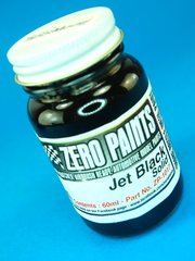 Paint  by Zero Paints - Jet Black - Solid - 60ml    - for Airbrush image