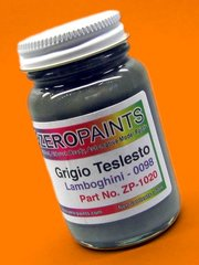 Zero Paints: Paint - Lamborghini Grigio Telesto - Code: 0098 - 1 x 60ml - for airbrush image