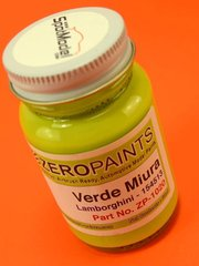 Zero Paints: Paint - Lamborghini Verde Miura Lima Green - Code: 154513 - 1 x 60ml - for Airbrush