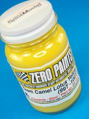Zero Paints: Pintura - Lotus 99T 100T Camel - Yellow - Amarillo camel - 60ml   - para Aerógrafo