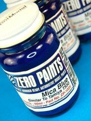 Zero Paints: Pintura - Azul mica - Mica Blue - Similar a TS-50 - 1 x 60ml - para Aerógrafo