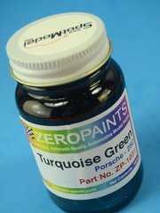 Zero Paints: Paint - Porsche Turquoise Green Metallic  - Code: 25C - 60ml - for Airbrush