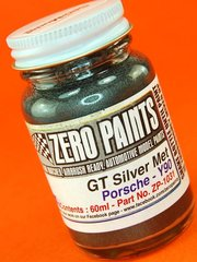 Zero Paints: Paint - Porsche GT Silver Metallic  - Code: Y90 - 60ml - for Airbrush