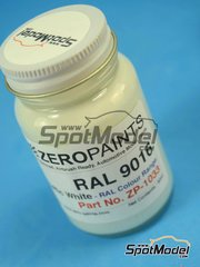 Zero Paints: Paint - RAL9016 - Traffic white - 60ml - for Airbrush
