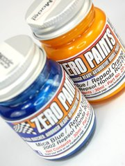 Zero Paints: Set de pinturas - Honda RC211V Repsol 2002 - Orange + Blue - Naranja + Azul - 2 x 30ml - para Aerógrafo