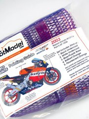 Zero Paints: Paints set - Honda RC211V Repsol 2003 -  Black + white + purple + orange + orange fluo - 5x30ml - for Airbrush