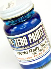 Zero Paints: Pintura - Azul metalizado - Subaru World Rally Blue 2001-2006 - Code: 02C - 60ml - para Aerógrafo