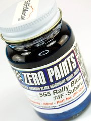 Zero Paints: Paint - Subaru 555 Rally Blue 1997-2002  - Code: 74F - 60ml - for Airbrush