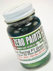 Zero Paints: Pintura - Jaguar F1 Green - Verde - 1 x 60ml - para Aerógrafo