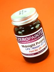 Zero Paints: Pintura - Midnight Purple Nissan - Nissan Midnight Purple  - Code: LP2 - 1 x 60ml - para Aerógrafo