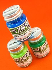 Zero Paints: Paints set - Jordan 191 - Light green + dark green + blue - 3 x 30ml - for Airbrush
