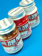 Zero Paints: Set de pinturas - Lotus Team Gold Leaf - Gold + White + Red - Dorado + blanco + rojo - 3x30ml - para Aerógrafo