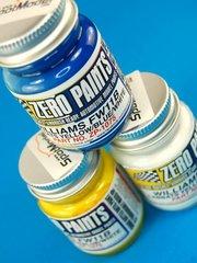 Zero Paints: Paints set - Williams Honda FW11B Labatts - Blue + White + Yellow  - 3x30ml - for Airbrush