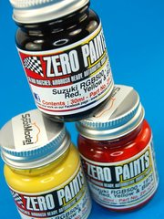 Zero Paints: Paints set - Suzuki RGB500 1979 : Red + Yellow + Black - 3x30ml - for Airbrush